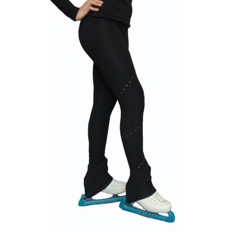 Pantalon de patinage - Strass Fuchsia